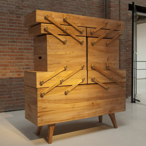 "Courtesy of: www.dezeen.com ""Sewing Box Cabinet"" by Kiki Van Eijk"
