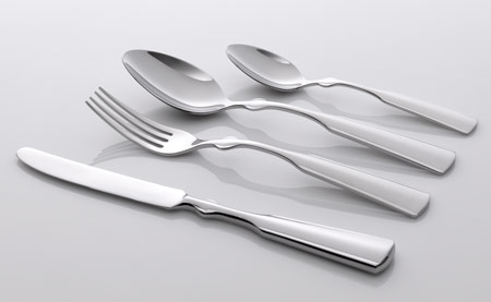 "Courtesy of: www.dezeen.com ""Table-Palette: Cutlery steiless steel"" for Koninklike van Kempen & Begeer by Kiki van Eijk"