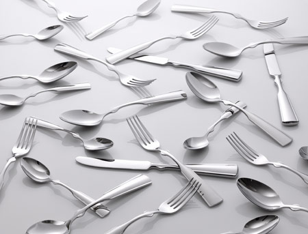 "Courtesy of: www.dezeen.com ""Table-Palette: Cutlery steiless stee""l for Koninklike van Kempen & Begeer by Kiki van Eijk"