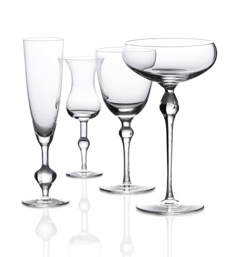 "Courtesy of: www.dezeen.com ""Table-Palette: Set of glasses"" for Royal Leerdam by Kiki van Eijk"