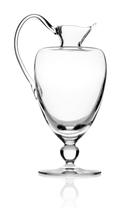 "Courtesy of: www.dezeen.com ""Table-Palette: Water and Wine Carafe"" for Royal Leerdam by Kiki van Eijk"