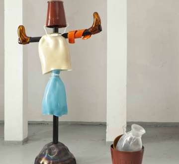 "Courtesy of: www.glasstress.org ""Allotment-Scarecrow"", 2011 by Kiki van Eijk"