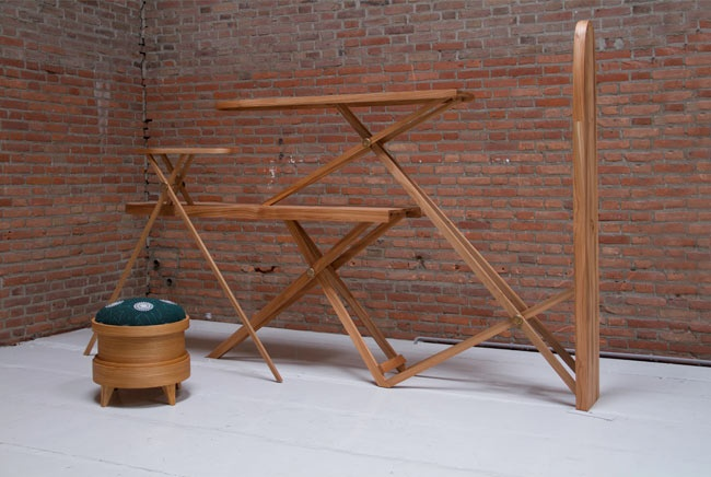 "Courtesy of: www.lanciatrendvisions.com ""Iron Board Cabinet"" and ""Pin Stool"" by Kiki van Eijk"