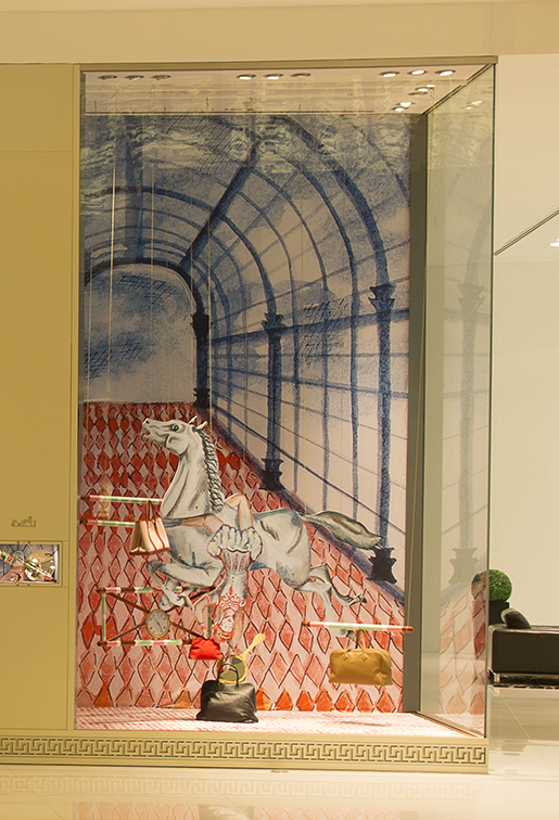 "Courtesy of: www.thedubaimall.com ""Hermès Dubai Mall Windows"" for Hermès by Kiki van Eijk"