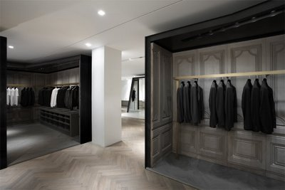 "Courtesy of: www.afterdef.blogspot.com ""Givenchy Store"" 28, Faubourg St. Honoré, Paris, interior design by India Mahdavi"