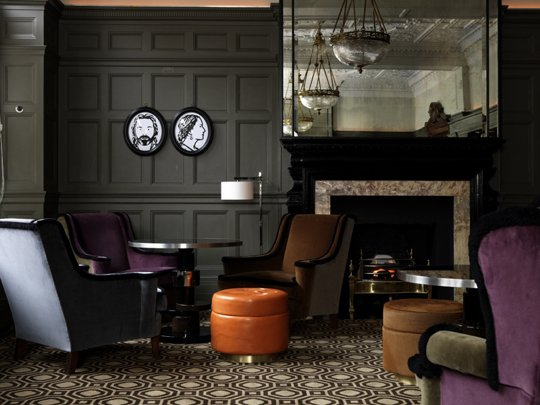 "Courtesy of: www.apartmenttherapy.com ""Coburg Bar"" of ""Cannought Hotel"", London by India Mahdavi"