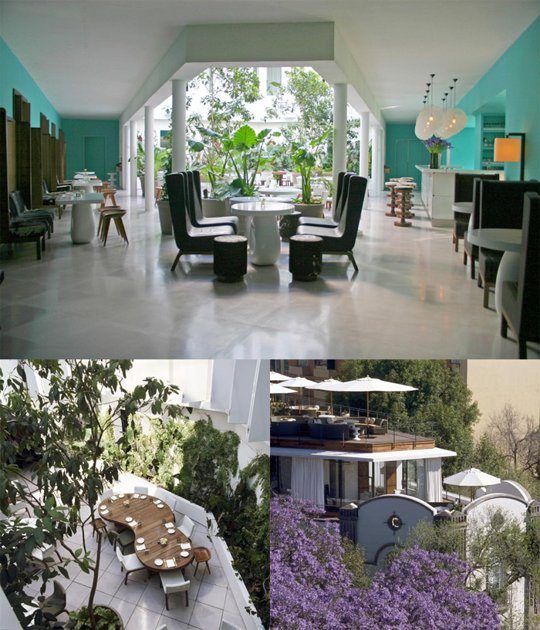 "Courtesy of: www.apartmenttherapy.com ""Hotel Condesa DF"", Mexico City, 2004, interior design by India Mahdavi"