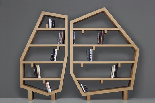 "Courtesy of: www.apartmenttherapy.com ""Diamonds - bookshelf"" by India Mahdavi"
