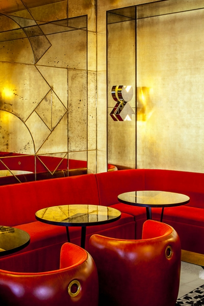 "Courtesy of: www.india-mahadavi.com ""Café Français"", Paris, interior design by India Mahdavi and Studio M/M, Paris"