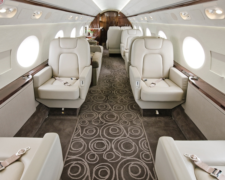 "Courtesy of: www.india-mahdavi.com ""Netjets Aircraft"",  2009, interior design by India Mahdavi"