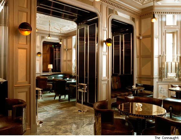 "Courtesy of: www.luxist.com ""Coburg Bar"" of ""Connaught Hotel"", London, interior design by India Mahdavi"