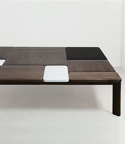"Courtesy of: www.ralphpucci.net ""Bluff coffee table"" by India Mahdavi"
