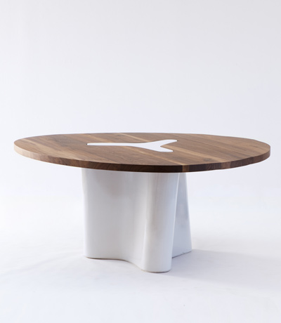"Courtesy of: www.ralphpucci.net ""Diagonale table"" by India Mahdavi"