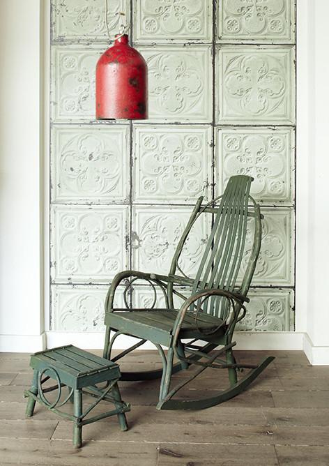 "Courtesy of: www.abigailahern.com ""American Tin Tiles Wallpaper Mint"" by Abigail Ahern's Atelier"