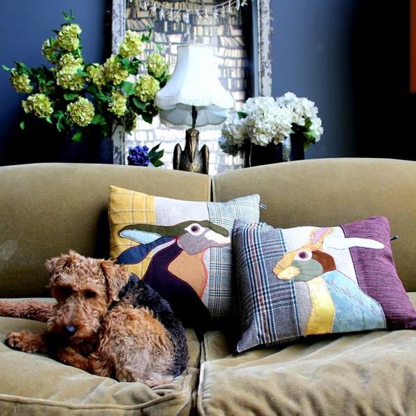 """Courtesy of: www.abigailahern.com """"Patchwork Animal Cushions"""" by Abigail Ahern"""