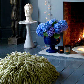 """Courtesy of www.abigailahern.com """"Resta Floor Cushion"""" and """"Faux Flowers Collection"""" by Abigail Ahern"""