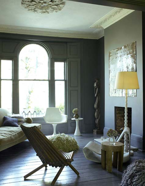 "Courtesy of www.designsponge.com ""Abigail Ahern apartment"" interior design by Abigail Ahern"