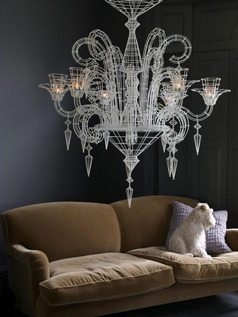 "Courtesy of: www.designsponge.com ""Abigail Ahern apartment"" interior design by Abigail Ahern"
