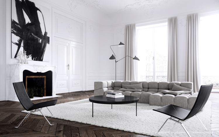 "Courtesy of: www.thedpages.com ""Juraj Talcik&Veronika Demovicova apartment"", Paris"