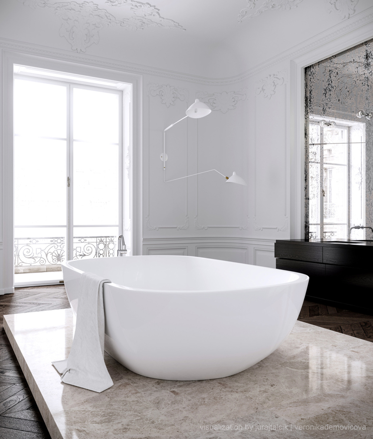 "Courtesy of: www.thedpages.com ""Juraj Talcik&Veronika Demovicova apartment"", Paris"