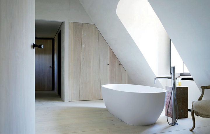 Courtesy of: www.79ideas.com. Detail of bathroom of a Belgian home, interior design by Axel Vervoordt