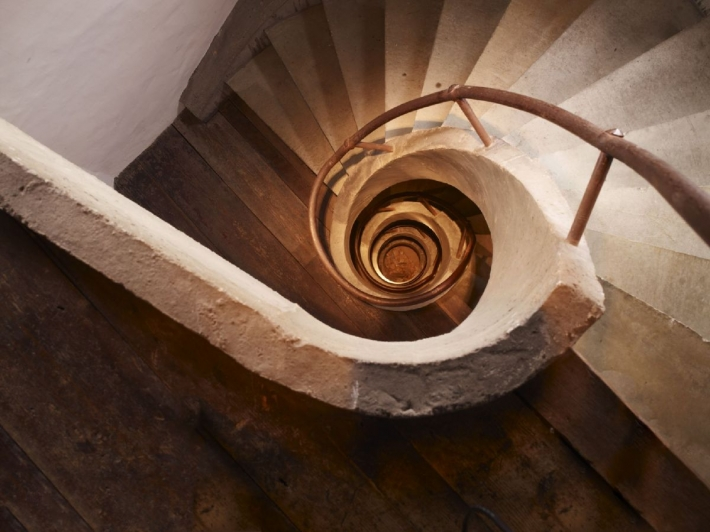 Courtesy of: www.digital-debris.com: Detail of a staircase,interior design by Axel Vervoordt